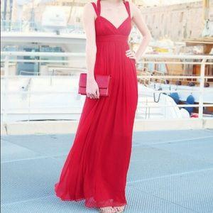 BCBG Silk Chiffon Gown